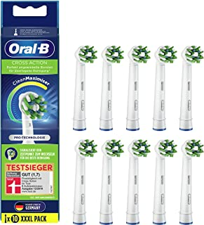 Oral-B CrossAction Opsteekborstels voor elektrische tandenborstel, 10 stuks, volledige mondreiniging met CleanMaximiser-bo...