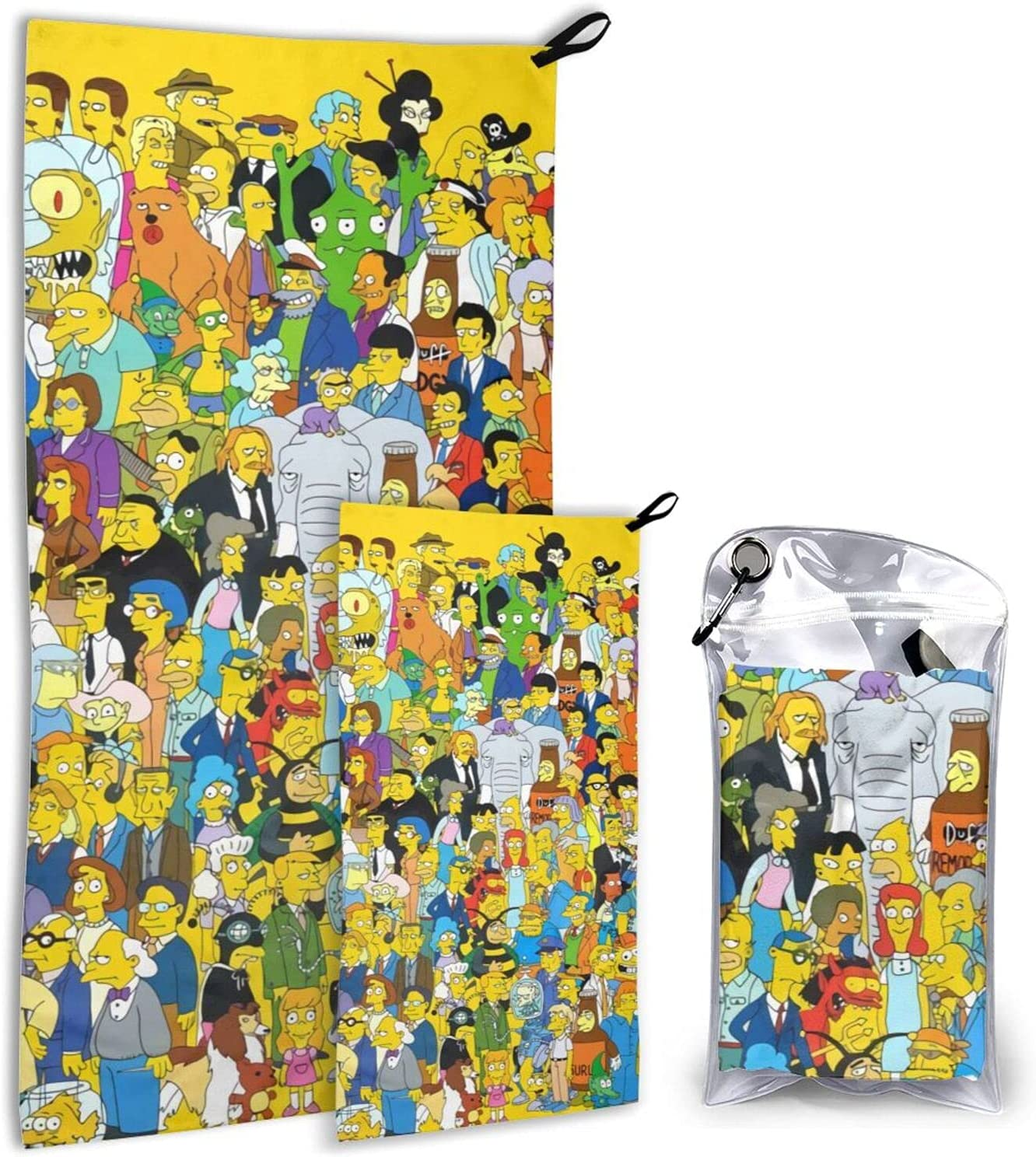 The Atlanta Mall Simpsons SALENEW very popular! Animation Camping Travel Soft Towel-Super Compact