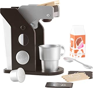 KidKraft Children's Espresso Coffee Set - Role Play Toys for The Kitchen, Play Kitchen Accessories