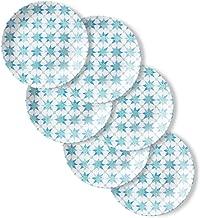 Corelle Chip Resistant Lunch Plates, 6-Piece, Amalfi Verde