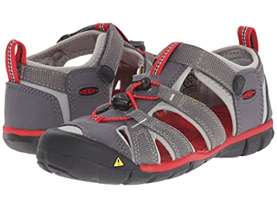 Keen Kids Seacamp II CNX (Little Kid/Big Kid) (Magnet/Racing Red) Boys Shoes