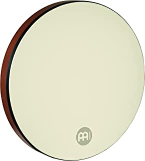"Meinl Percussion 20"" Frame Drum with Metal Rings, Daf - NOT MADE IN CHINA - Coated Synthetic Head, African Brown Finish, 2-YEAR WARRANTY (FD20D-TF)"