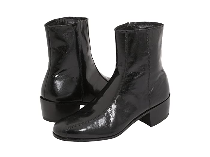 Mens Retro Shoes | Vintage Shoes & Boots Florsheim Duke Black Cavello Mens Dress Zip Boots $139.95 AT vintagedancer.com
