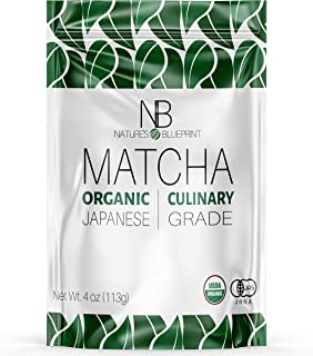 Nature's Blueprint Matcha- Culinary Grade Green Tea Powder - Made from Pure and Organic Japanese Leaves - Raw and Unsweetened - Contains Powerful Anti Inflammatory Properties for Healing