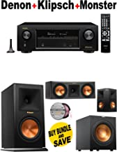 Denon AVR-X1200W 7.2 Channel Full 4K Ultra HD A/V Receiver with Bluetooth and Wi-Fi + Klipsch - RP160MBK + Klipsch - RP250CBK + Klipsch - RP250SBK + Klipsch - R10SW + Monster Cable - PLATXPMS50 Bundle