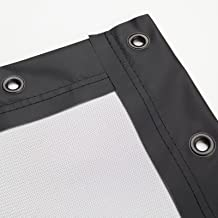 Carls Place Preferred Golf Impact Screen Finished with Black Vinyl Edges and Grommets, Golf Screen, Golf Simulator Screen, Golf Simulator Impact Screen, Impact Screen, Golf Projection Screen
