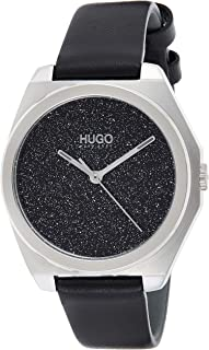 Hugo Boss Women's Black Dial Black Leather Watch - 1540022