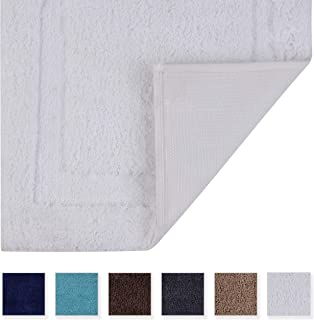 TOMORO Non-Slip Bathroom Rug Super Absorbent Bath Mat Extra Soft Microfibers Anti-Skid TPR Bottom (17.5 x 27 inch, White)