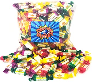 CrazyOutlet Pack - Atkinson's Assorted Sour Hard Candy, Grape, Lemon, Apple, Cherry Flavored Sour Candy Mix, Individually Wrapped Bulk Pack, 2 Lbs