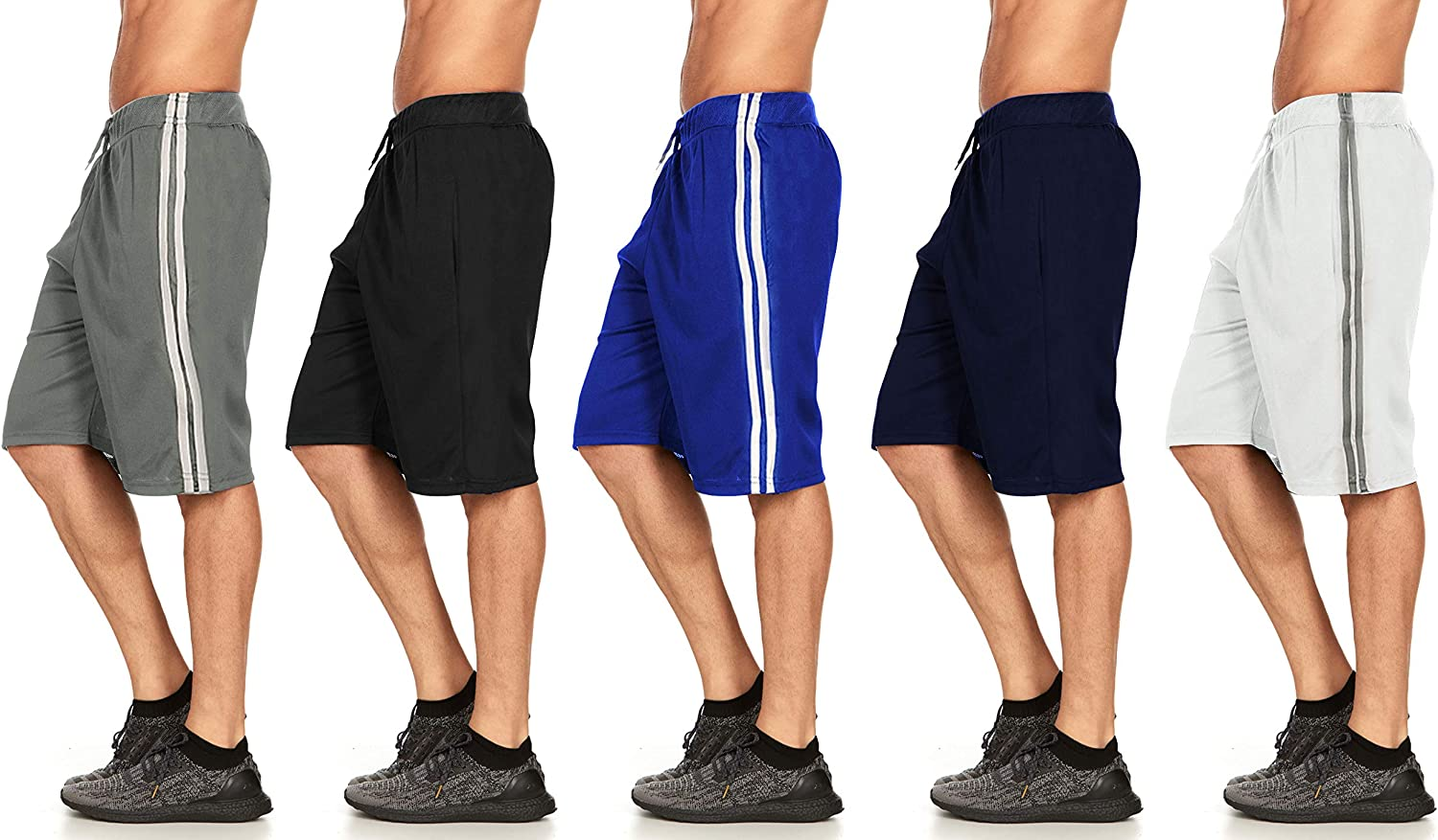 DARESAY Mens New product!! Athletic Online limited product Shorts with Perfor Active Pockets Workout