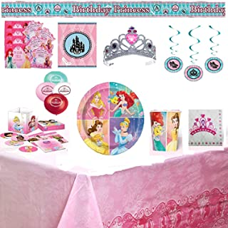 Princess Birthday Party Supplies & Decorations Custom 69 Piece Bundle Set
