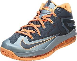 Nike Max Lebron XI Low Men Sneakers Light Magnet Grey/Magnet Grey/Bright Mango/Dark Grey 642849-002