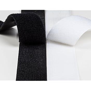 Dondo Klettband Haken Flausch Klettverschluss weiß 1m