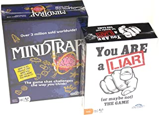 MindTrap Game & You Are A Liar Game Bundle with Hickoryville Storage Bag