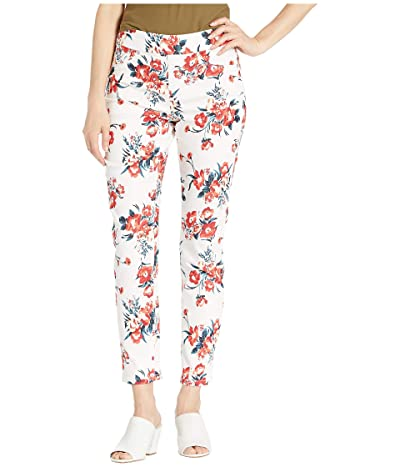 Tribal Printed Stretch Twill Pull-On Ankle Leggings (Teaberry) Women