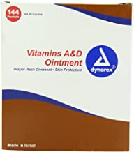 Dynarex Vitamin A & D Ointment Unit Packets 144/box
