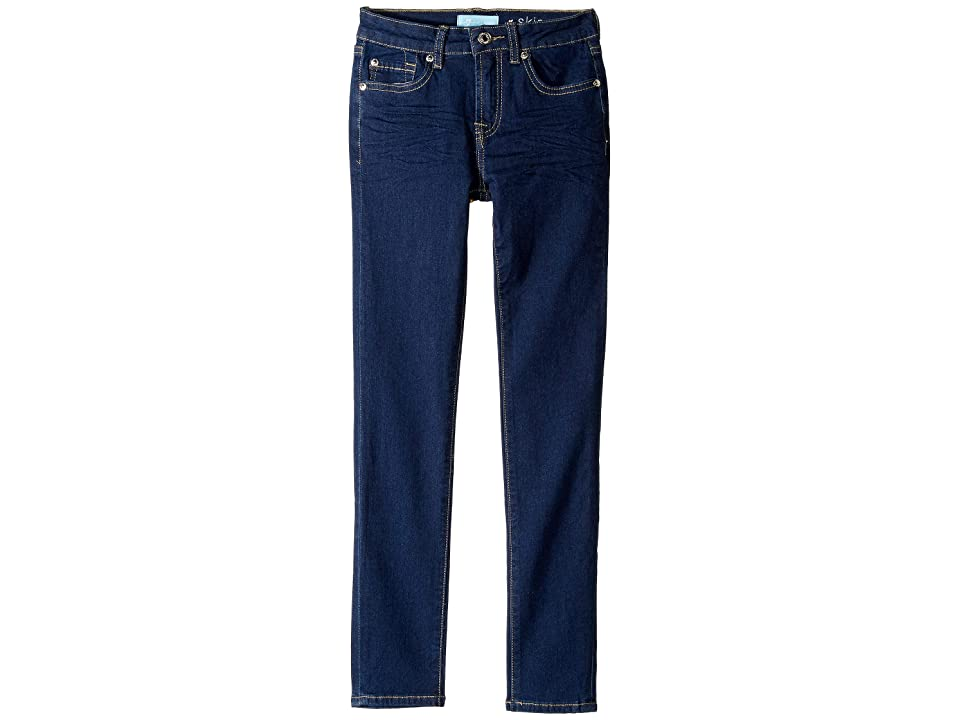 Image of 7 For All Mankind Kids B (Air) The Skinny Stretch Denim Jeans in Avant Rinse (Big Kids) (Avant Rinse) Girl's Jeans