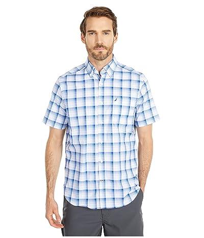 Nautica Casual Plaid Shirt (White) Men