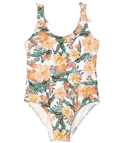 Roxy Kids Love is Big One-Piece Swimsuit (Big Kids) (Bright White Mahe) Girl
