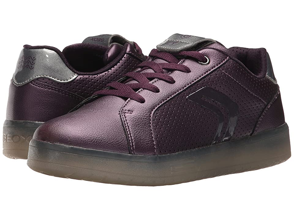 Geox Kids JR Kommodor Girl 1 (Big Kid) (Prune/Dark Silver) Girl