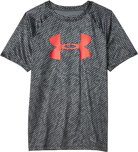 Under Armour Boys' Tech Big Logo Printed Short Sleeve Gym T-Shirt