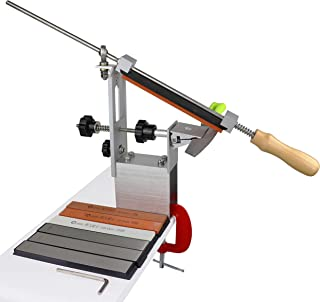 Sponsored Ad - ZELANCY Aluminum alloy Professional Kitchen Knife Sharpener, 360 Degree Rotation Fixed angle, Kitchen Chef ...