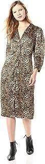 Rebecca Taylor Women's Long Sleeve Animal Print Silk Dress