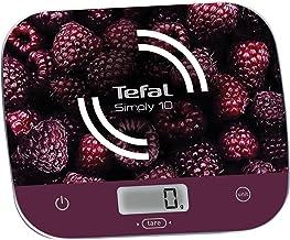 Tefal BC8000V0 Balance de Cuisine Électronique Simply 10 Graduation 10kg/1g Conversion Liquides Tare Framboise