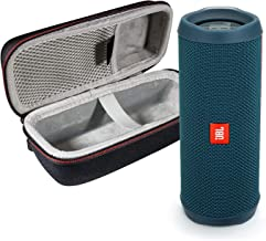 JBL Flip 4 Portable Bluetooth Wireless Speaker Bundle with Protective Travel Case - Ocean Blue