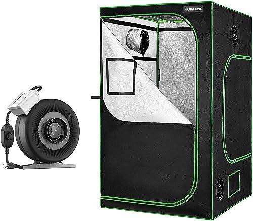 "new arrival VIVOSUN 6 Inch new arrival 440 online CFM Inline Duct Fan, 48""x48""x80"" Mylar Hydroponic Grow Tent online"