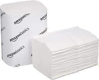 AmazonBasics V-Fold Dispenser Napkins, White, 250 Napkins per Pack, 24-Count