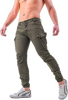 462859dcf0727d Instinct Pantaloni Cargo Uomo con Tasche Laterali Tasconi Zip Slim Fit W7