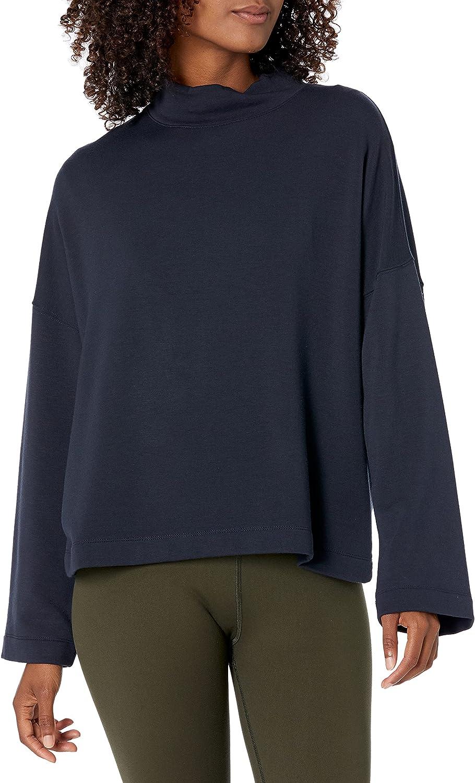 Core 10 Women's (XS-3X) Cloud Soft Yoga Fleece Mock Dolman Sweatshirt