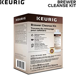 Keurig Brewer Cleanse Kit For Brewer Descaling and MaintenanceIncludes Descaling Solution & Rinse Pods, Compatible with Keurig Classic/1.0 & 2.0 K-Cup Pod Coffee Makers, 5 Count