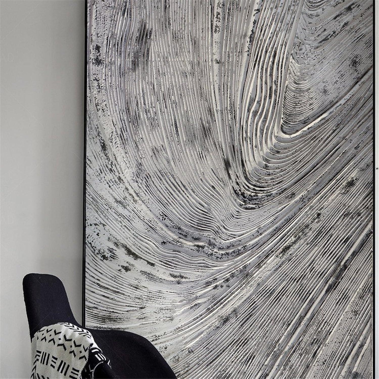 auténtico YIZHANGPinturas Modernas de la Oficina del Mural de la la la casa Modelo de la casa Modelo Abstracta gris Avanzada Avanzada (40  60cm)  minoristas en línea