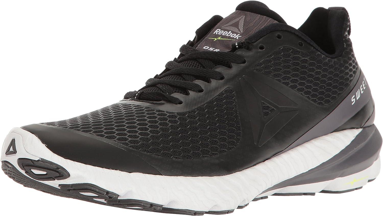 Reebok Men's OSR Sweet RD Running shoes, Black Ash Grey White Pewter, 8.5 M US