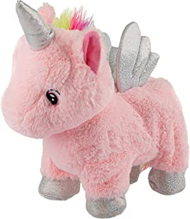 Wild Republic Animated Unicorn, Stuffed Animal, Lights Up, Walks, Shakes, Whinnies, Unicorn Gifts for Girls, Baby Toys, Un...