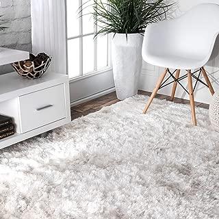 nuLOOM Latonia Silken Shag Rug, 5' x 8', Pearl White
