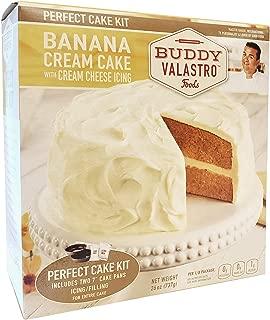 Buddy Valastro Foods Perfect Cake Kits - Cake Mix, Cake Pans, Icing, and Filling (Banana Cream Cake)