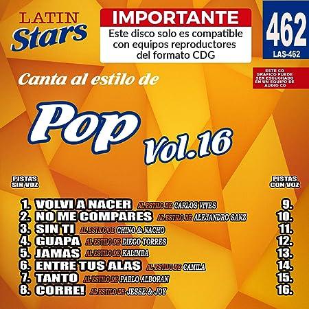 12 Importante Karaoke Latin Stars 446 Merengue Vol Este disco solo es compatible con reproductores del formato CDG
