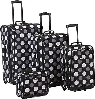 Rockland Luggage Dot 4 Piece Luggage Set