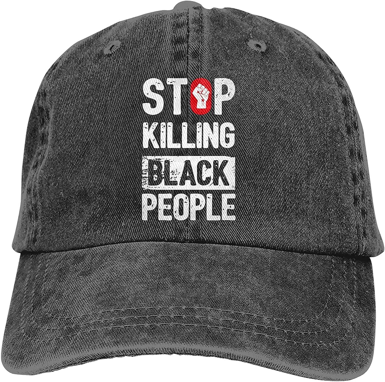 BGWORZD Stop Killing Black People Adjustable Washed Dad Hat Cowboy Cap Denim Cap Baseball Cap