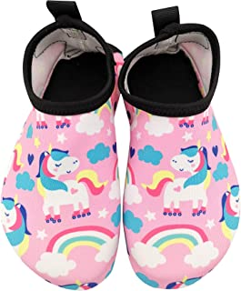Holynissl Toddler Kids Swim Water Shoes Boys Girls Non-Slip Quick Dry Beach Shoes Pool Barefoot Shoes