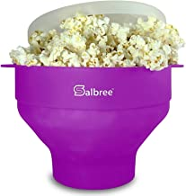 Original Salbree Microwave Popcorn Popper, Silicone Popcorn Maker, Collapsible Bowl BPA Free - 18 Colors Available (Purple)