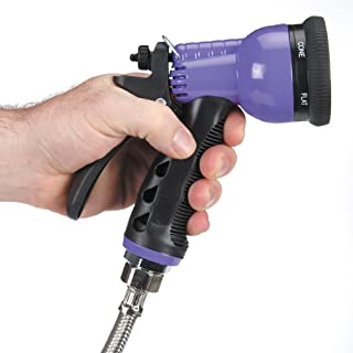 """Master Equipment 6-in-1 Spray Hoses — Versatile, Brightly Colored Hoses for Use in Pet Grooming Shops - 60"""", Purple"""