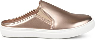 Womens Wells Faux Leather Round Toe Casual Sneaker Mules
