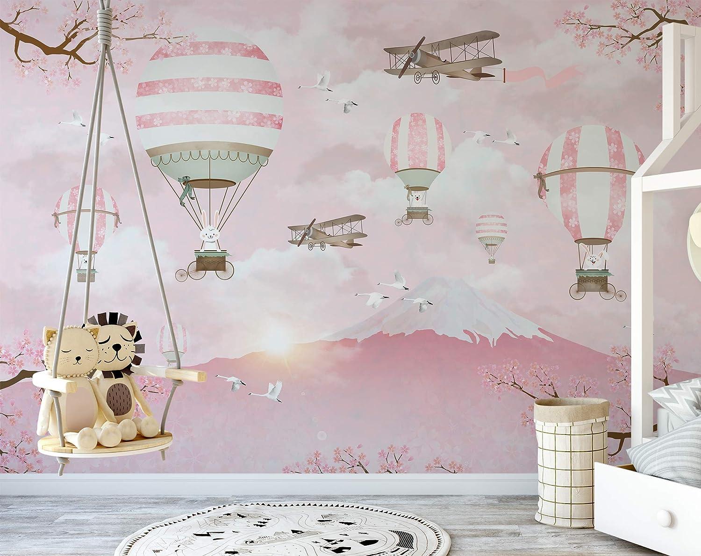 Murwall Kids Wallpaper Hot Air Balloon ...