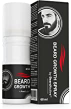 Beard Growth Spray® - Favorisce La Crescità - 100% Vegetale - Per Una Barba Piu Folta E Forte!