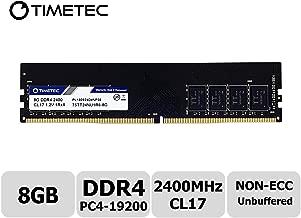 Timetec Hynix IC 8GB DDR4 2400MHz PC4-19200 Unbuffered Non-ECC 1.2V CL17 1Rx8 Single Rank 288 Pin UDIMM Desktop Memory RAM Module Upgrade (Single Rank 8GB)
