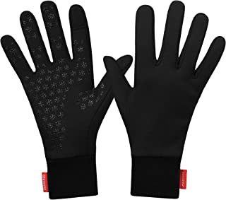 Waterproof Splash-Resistant Sports Running Gloves - Touch Screen Lightweight Liner Gloves for Running, Walking, Cycling, Working - Outdoor for Men Women in Winter Or Fall